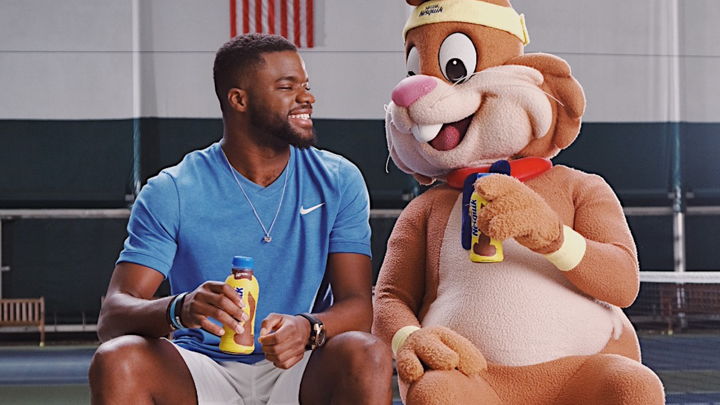 Frances Tiafoe collaborates with Nesquik