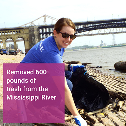 Mississippi River Cleanup Volunteer Event