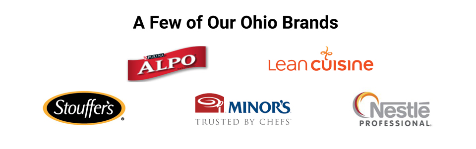 Nestlé brands produced in Ohio