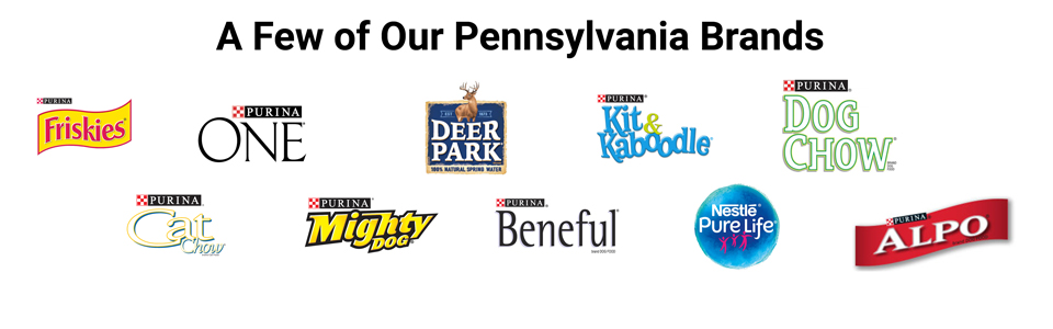 Nestlé brands produced in Pennsylvania