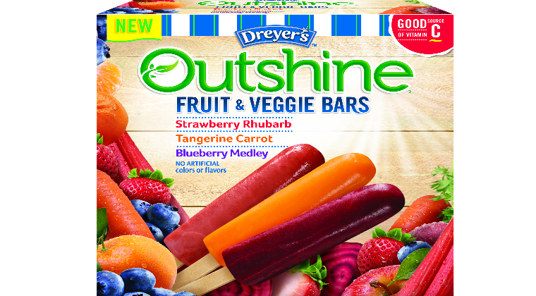 Nestlé Dreyer's Introduces First National Line of Fruit and Vegetable Frozen Bars