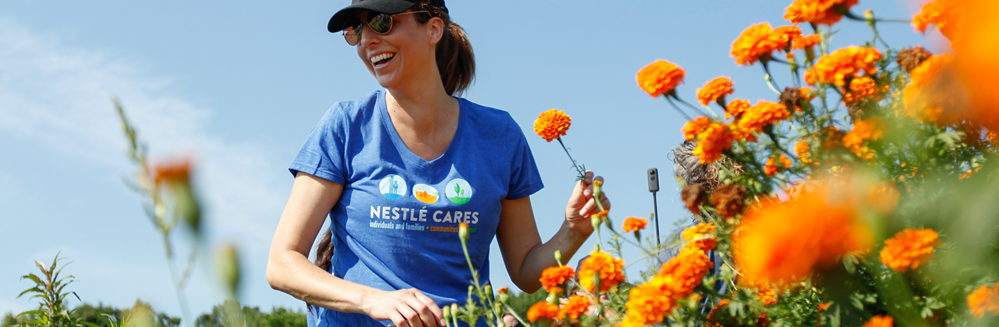 Nestle Volunteer at Arcadia Center Farm